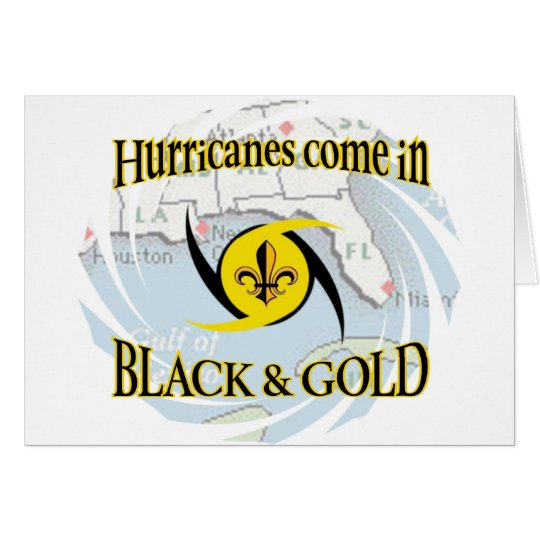 Hurricanes in Black & Gold Card