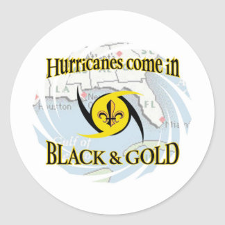 Hurricanes in Black & Gold Classic Round Sticker