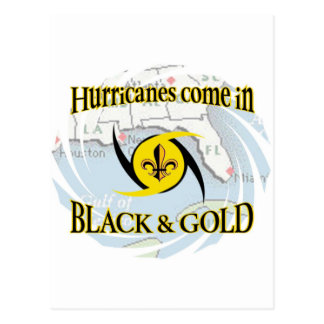 Hurricanes in Black & Gold Postcard
