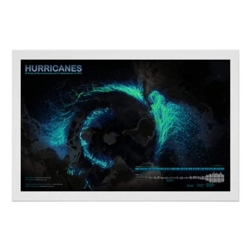 Hurricanes Since 1851 Poster