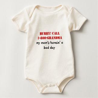 HURRY! CALL1-800-GRANDMA, my mom's havein' abad... Baby Bodysuit