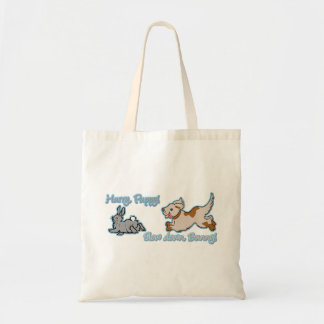 Hurry Puppy, Slow Down Bunny! Budget Tote Bag