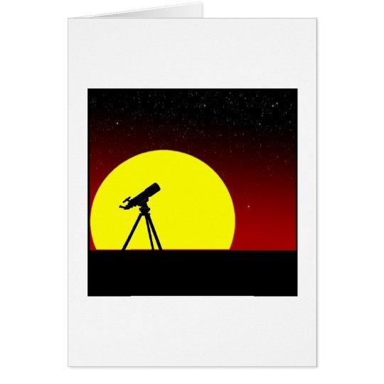 Hurry sunset card