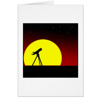 Hurry sunset greeting card
