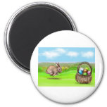 hurry up bunny refrigerator magnet