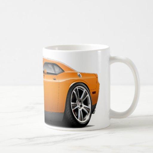 Hurst Challenger Orange Car Coffee Mugs