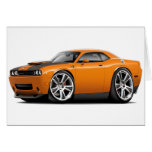 Hurst Challenger Orange Car Greeting Card