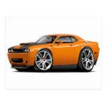 Hurst Challenger Orange Car Postcards