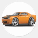 Hurst Challenger Orange Car Round Sticker