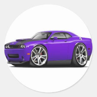 Hurst Challenger Purple Car Sticker