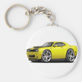 Hurst Challenger Yellow Car Basic Round Button Keychain