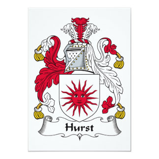 Hurst Family Crest Card