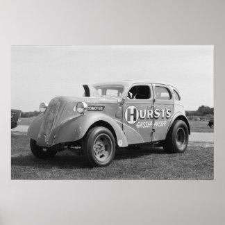 Hurst Gasser Passer - Vintage Drag Poster