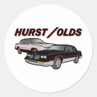 Hurst/Olds Classic Round Sticker