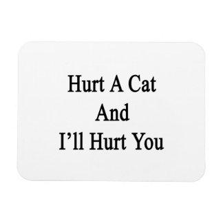 Hurt A Cat And I'll Hurt You Rectangular Photo Magnet