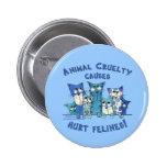 Hurt Felines Animal Cruelty Pinback Button