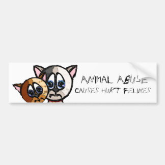 Hurt Felines Bumper Sticker