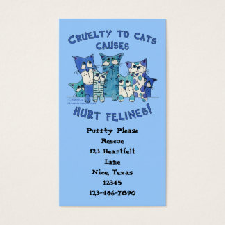 Hurt Felines Cruelty to Cats Business Card