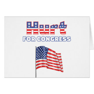 Hurt for Congress Patriotic American Flag Greeting Cards