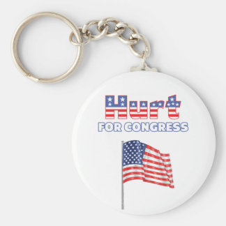 Hurt for Congress Patriotic American Flag Keychains