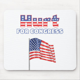 Hurt for Congress Patriotic American Flag Mousepads