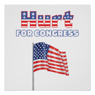 Hurt for Congress Patriotic American Flag Posters