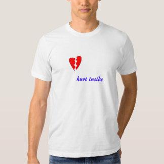 hurt inside, hurt inside tee shirt