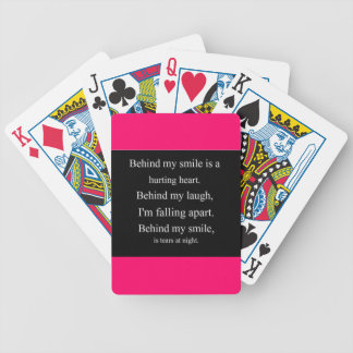 Hurting Heart sadness depression alone emo relatio Bicycle Playing Cards