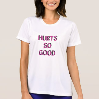 Hurts So Good Women's Workout Top - Pink and Black T-shirt