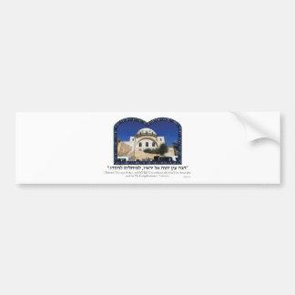 Hurvah Synagogue Bumper Sticker