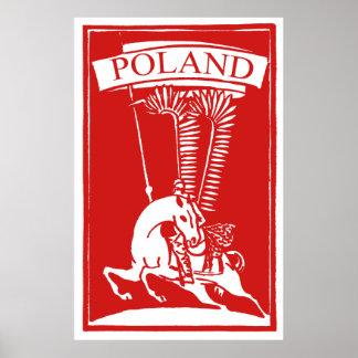 Húsar con alas polaco del vintage impresiones