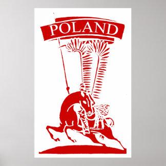 Húsar con alas polaco del vintage póster