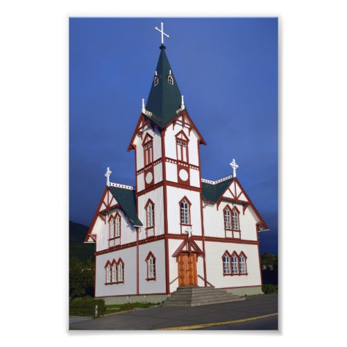 Husavik Lutheran Church, Iceland. Photo Print