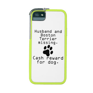 Husband And Boston Terrier Missing iPhone 5 Cover