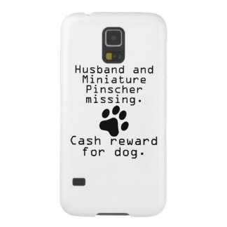 Husband And Miniature Pinscher Missing Galaxy S5 Cover