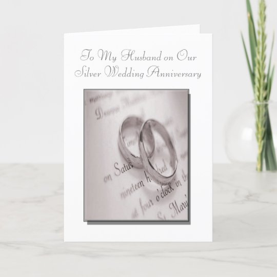 Silver Wedding Anniversary Gifts For Husband: Husband And Wife Silver Wedding Anniversary Card