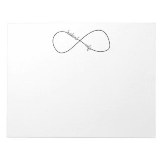 Husband and Wife Wedding and Anniversary Infinity Notepad