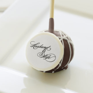 Husband and Wife Wedding Cake pops
