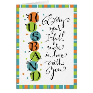 Husband Anniversary or Birthday Card