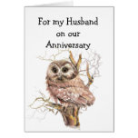 Husband Anniversary Owl always Love You Greeting Card