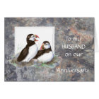 Husband Anniversary - Puffin Humor Card