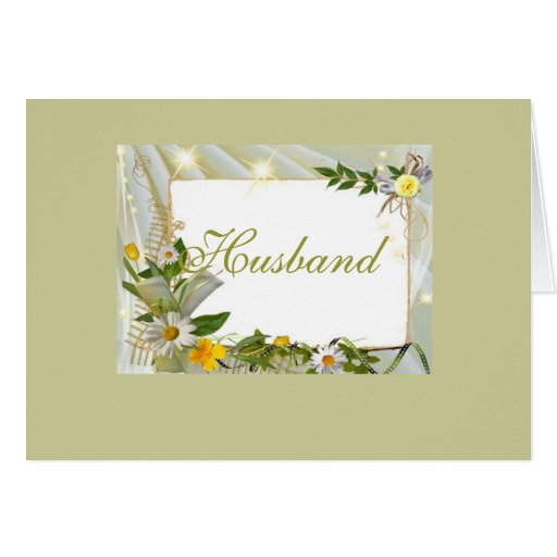 Husband B day Stationery Note Card