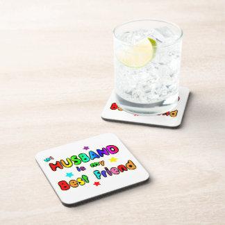 Husband Best Friend Beverage Coaster