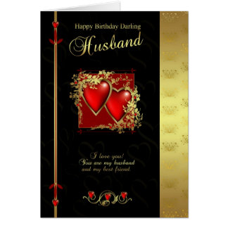 Husband Birthday Card - Happy Birthday Husband