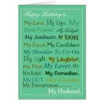 Husband birthday Card. sweetheart card. lover card