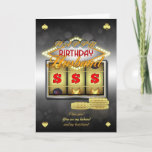 """Husband Birthday Greeting Card With Slots And Coin<br><div class=""""desc"""">Great For those who love a flutter weather it's on the slot machines (fruit machines / one arm bandit) or just that stylish casino look</div>"""