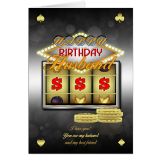 Husband Birthday Greeting Card With Slots And Coin