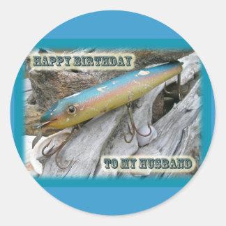 Husband Birthday Point Jude Cape Codder Lure Classic Round Sticker