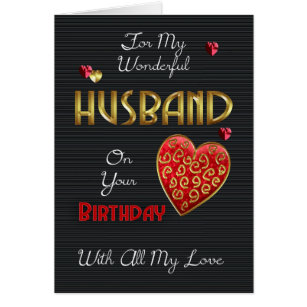 Husband birthday cards greeting photo cards zazzle husband birthday with gold effect card bookmarktalkfo Gallery