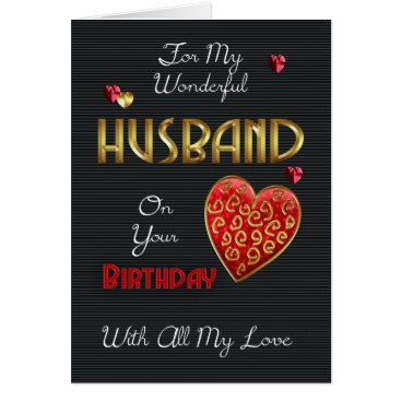 moonlake Husband, Birthday With Gold Effect Card